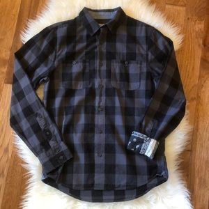 🖤1901 men's long sleeve button up S black&gray